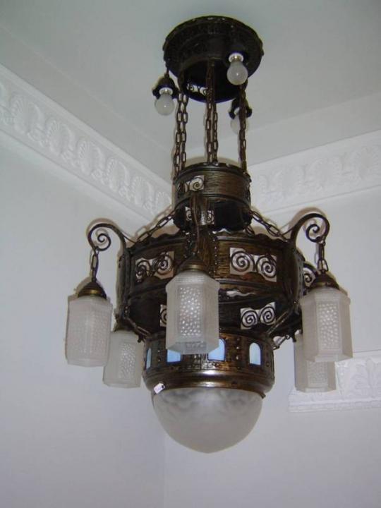 antike deckenlampe jugendstil antik lampen verkauf und. Black Bedroom Furniture Sets. Home Design Ideas