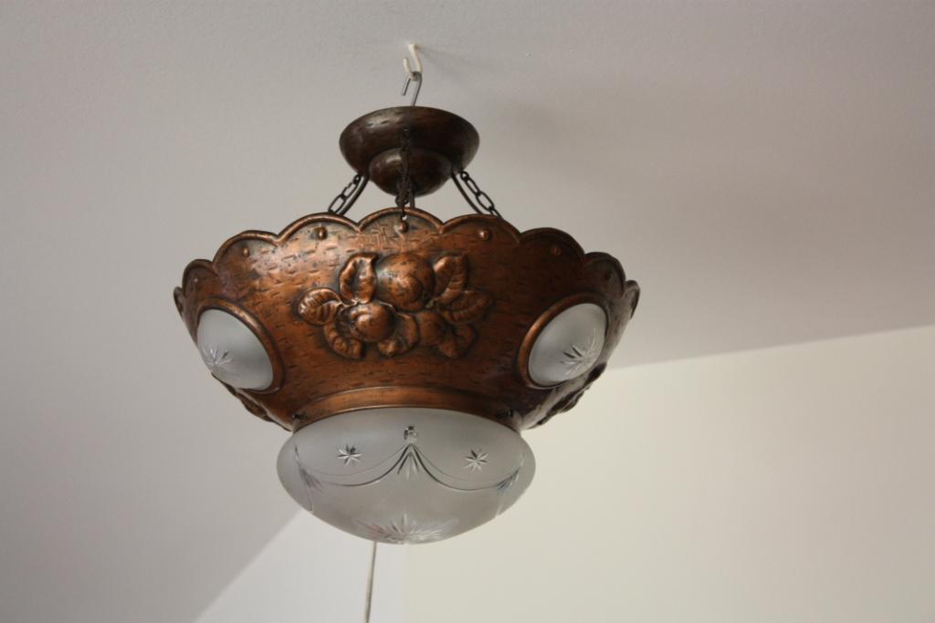 antike deckenlampe jugendstil um 1915 antik lampen. Black Bedroom Furniture Sets. Home Design Ideas