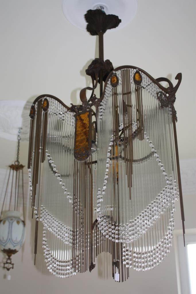Jugendstil Deckenlampe jugendstil deckenlampe - antik-lampen - verkauf und restauration