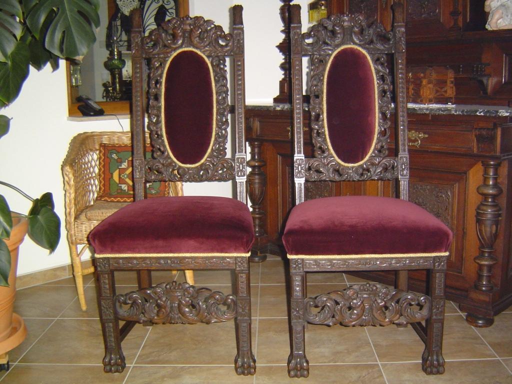antiker tisch und zwei st hle um 1900 antik lampen verkauf und restauration bernd noeltge. Black Bedroom Furniture Sets. Home Design Ideas