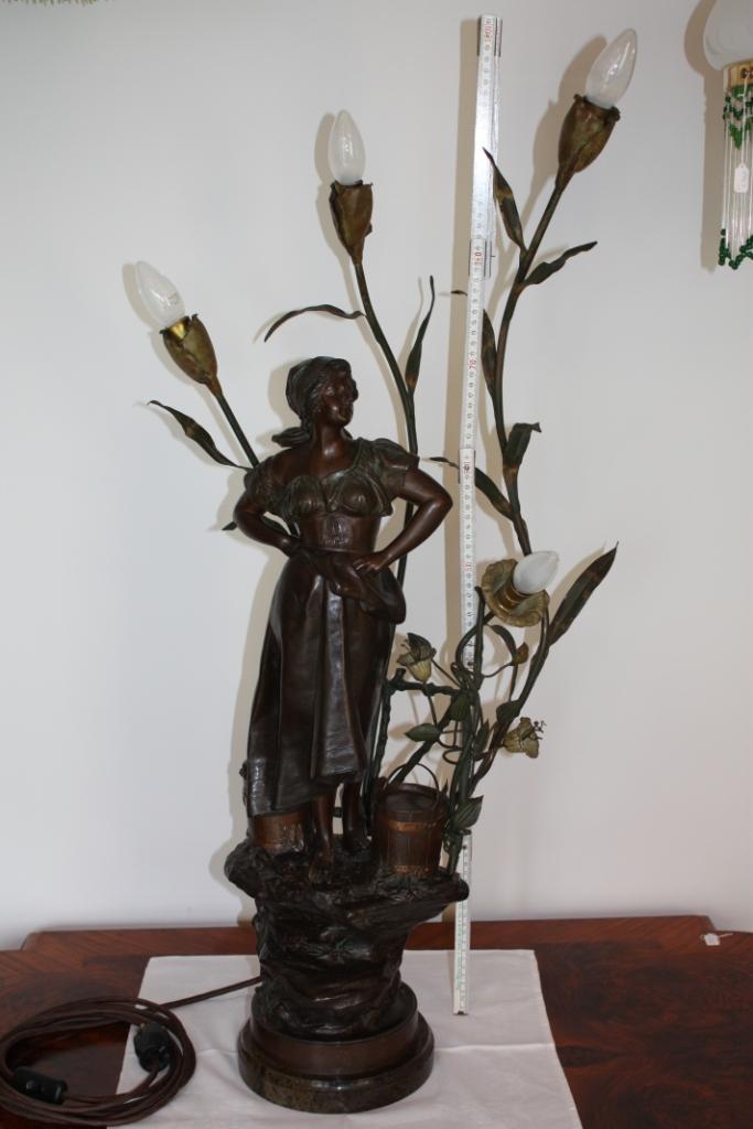 Figurenlampe jugendstil um 1905 antik lampen verkauf for Lampen antik